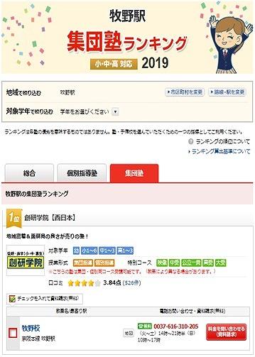 塾ナビランキング2019.6.20