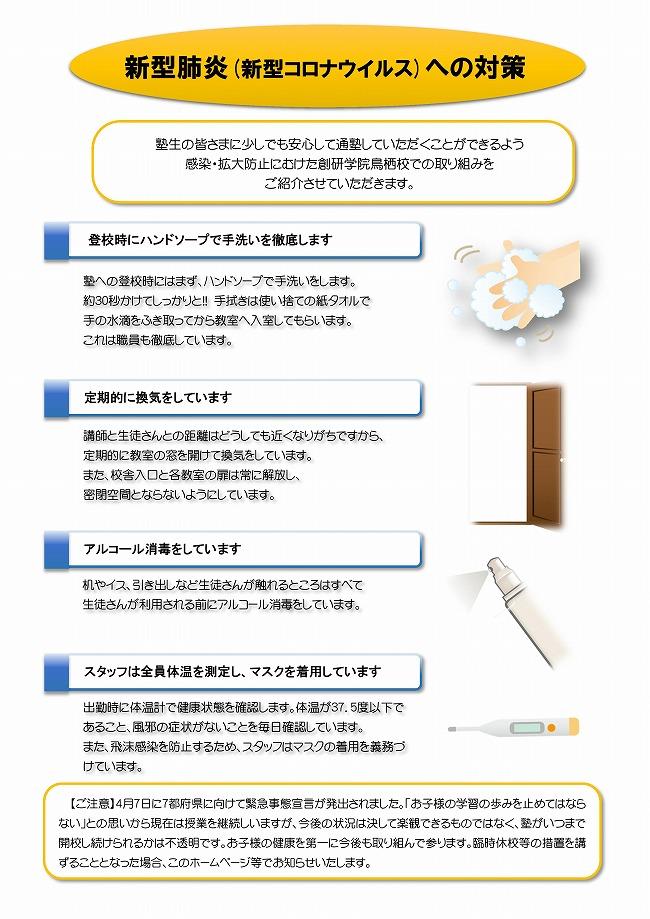 新型コロナウイルスへの対策