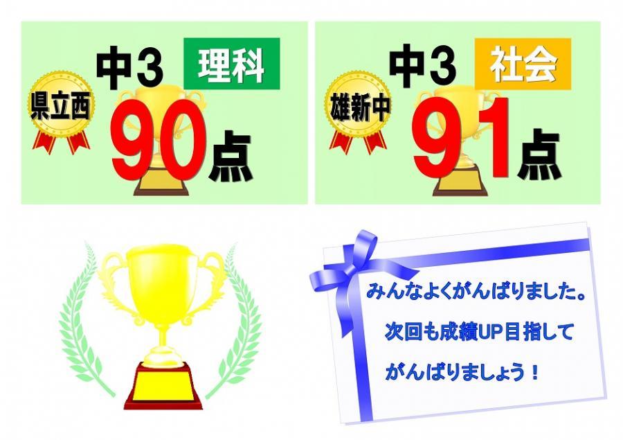 【中学生】2学期期末テスト結果★