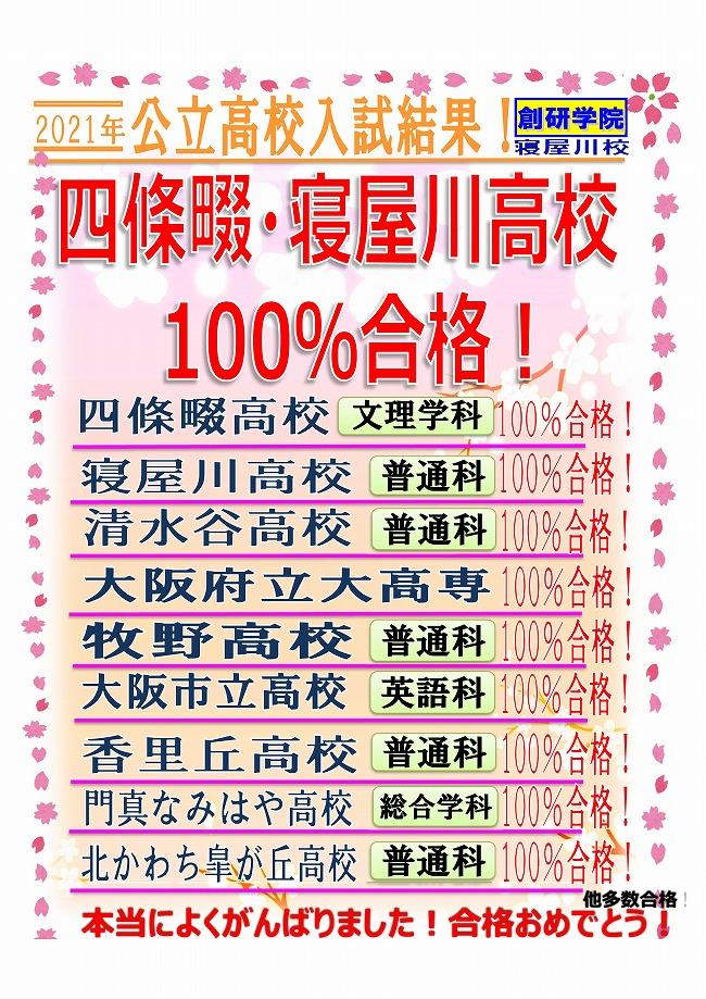 ☆★2021公立高校 入試結果 みんなよくがんばりました!★☆
